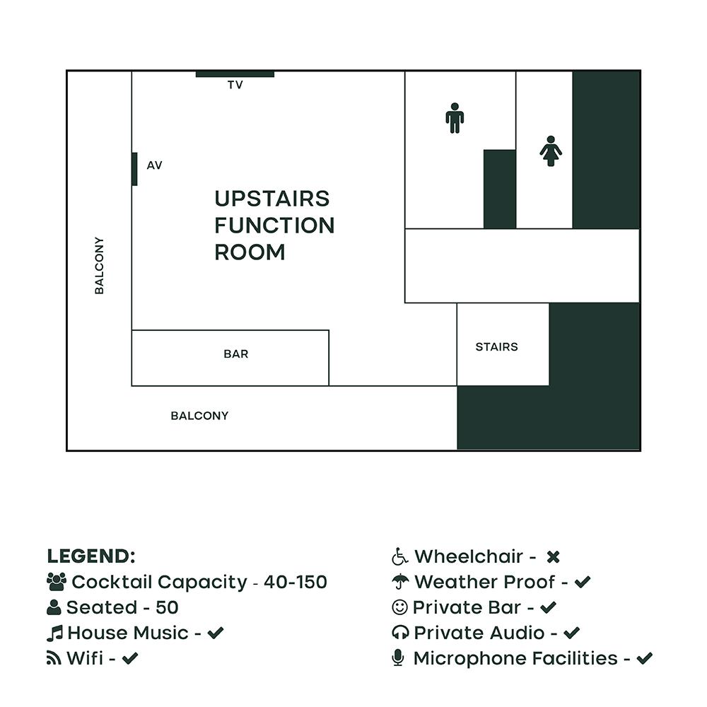 Upstairs – Alma Tavern